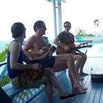 Jamming on Edith's porch in St Thomas w/ Riley McMahon and Spottiswoode